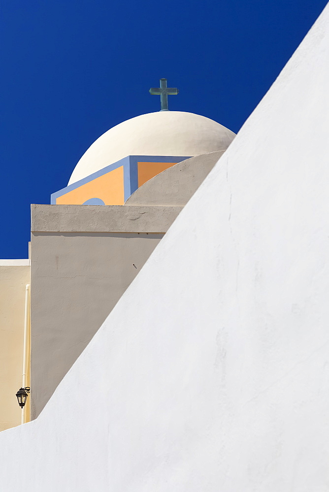 Abstract View Of Greek Church, Fira, Santorini, Greece