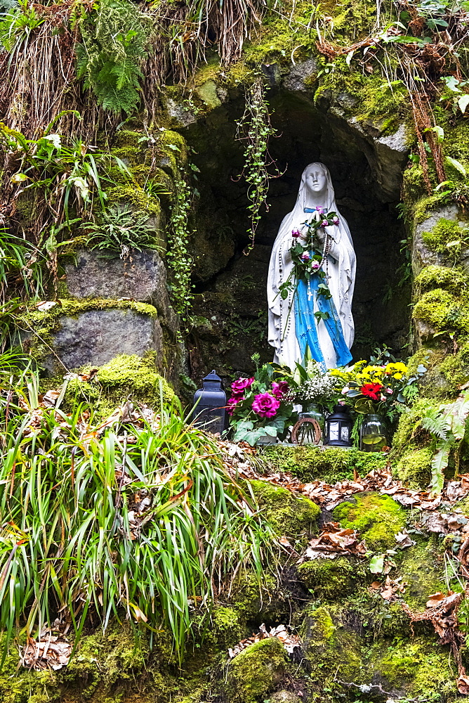 Grotto Dedicated To Our Lady Of Reconciliation In The Valley Of The Glencree River, Wicklow County, Ireland