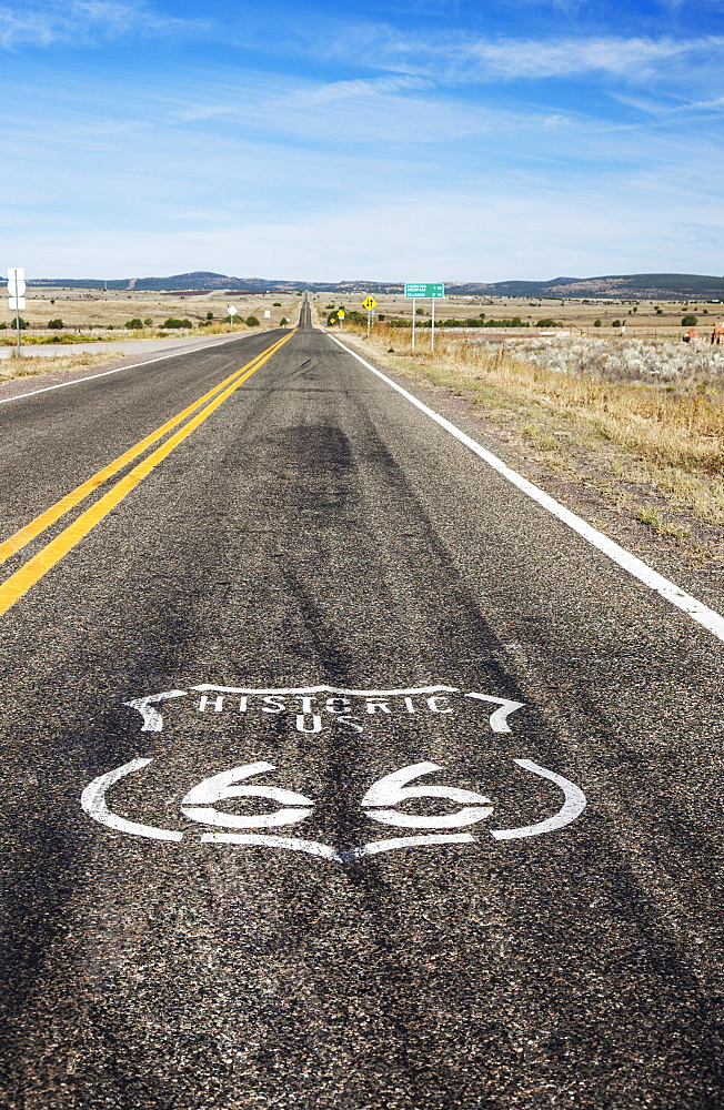 Route 66 Logo Painted On The Highway, Arizona, United States Of America - 1116-46811