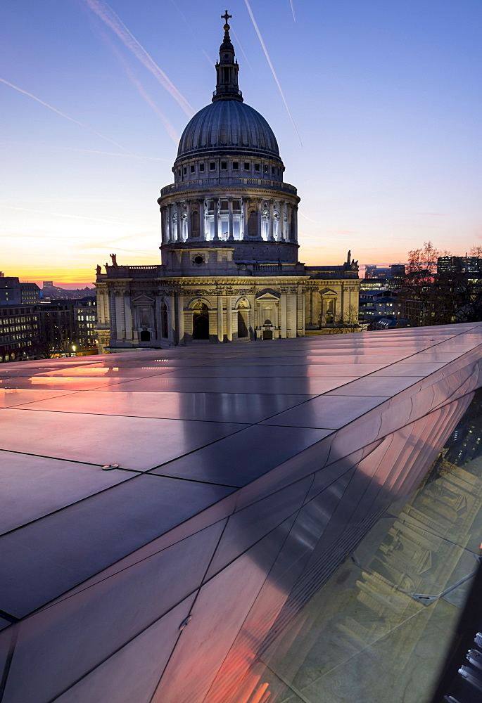 St. Paul's Cathedral At Dusk, London, England