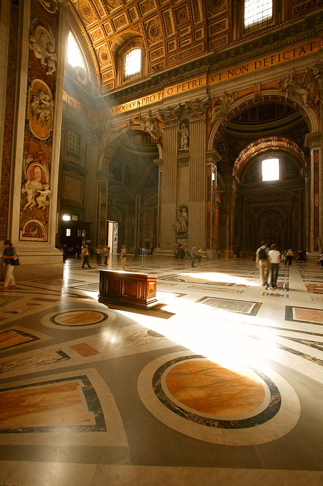Interior Of St. Peter's Basilica Vatican City Rome Italy