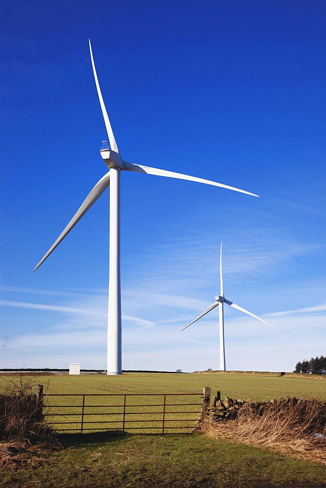 Durham Dales, County Durham, England; Wind Turbines