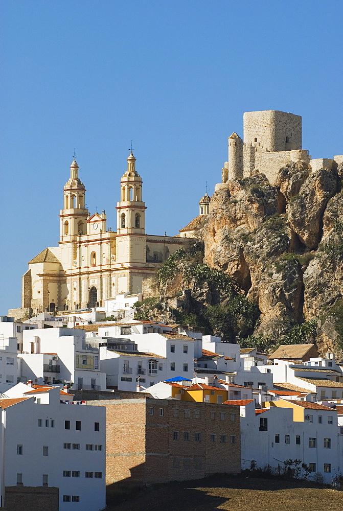 Church And 12Th Century Moorish Castle In C√°diz, Spain