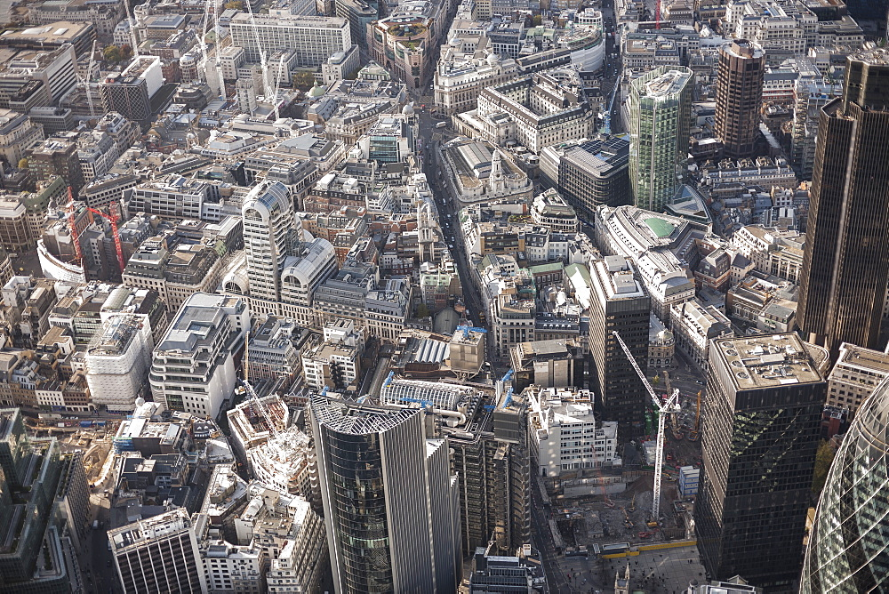 Full frame aerial view of city, London, England, UK - 1177-1830