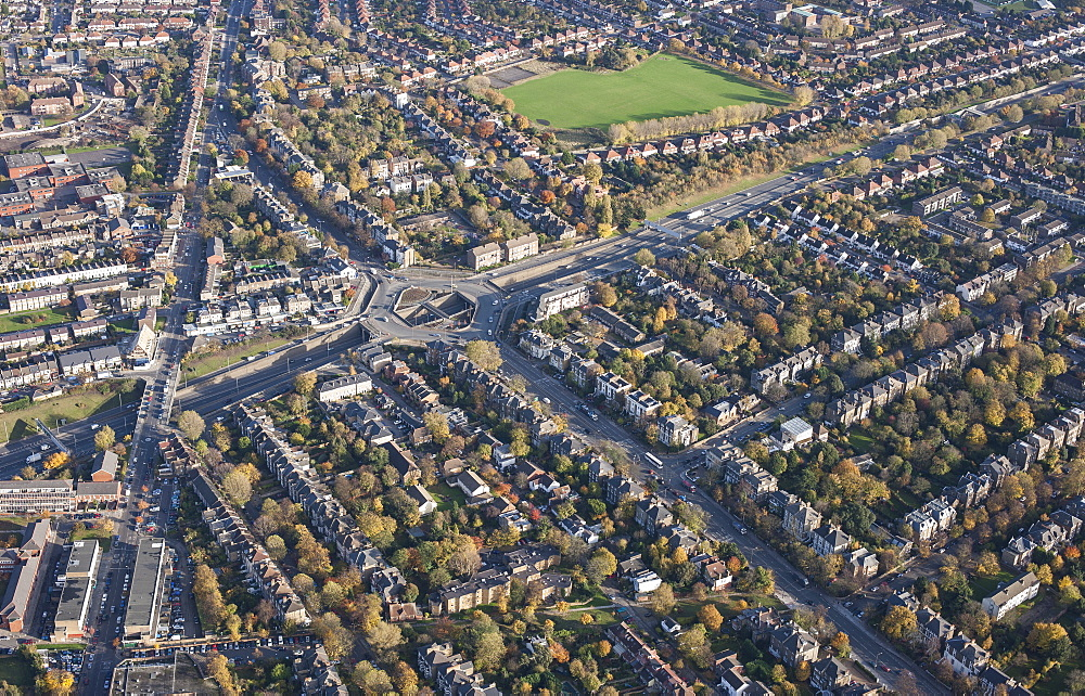 Full frame aerial view of residential area, London, England, UK - 1177-1832
