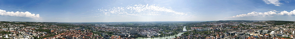 Panoramic view of Ulm, Baden-Wuerttemberg, Germany