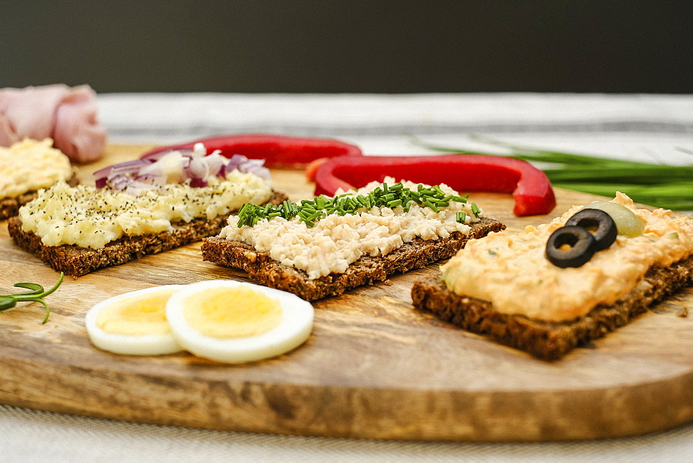 Healthy appetizers on wooden board - 1177-2427