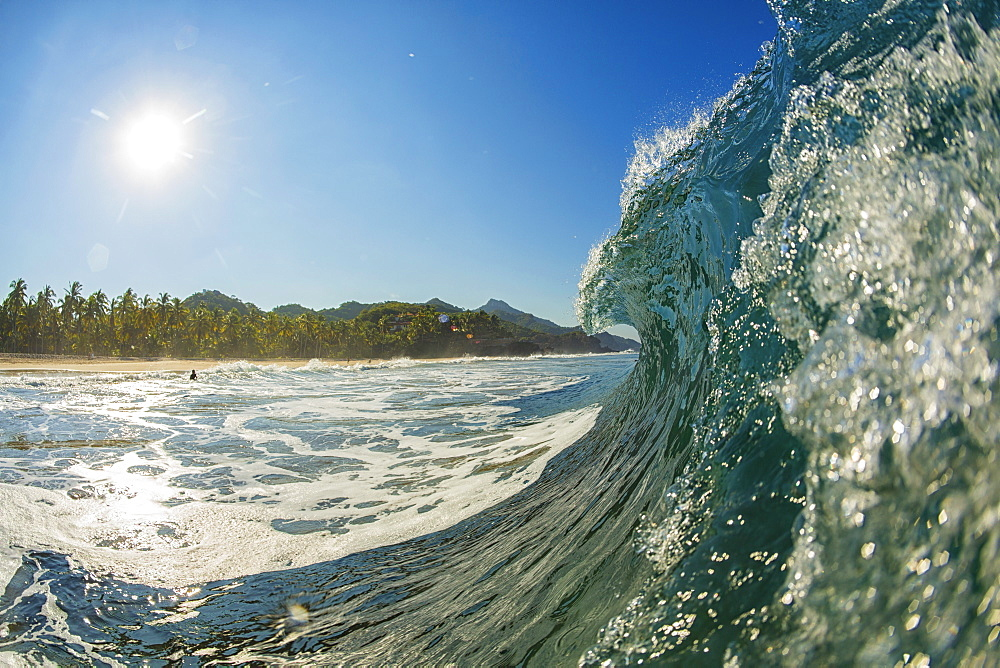Ocean wave breaking, Sayulita, Nayarit, Mexico