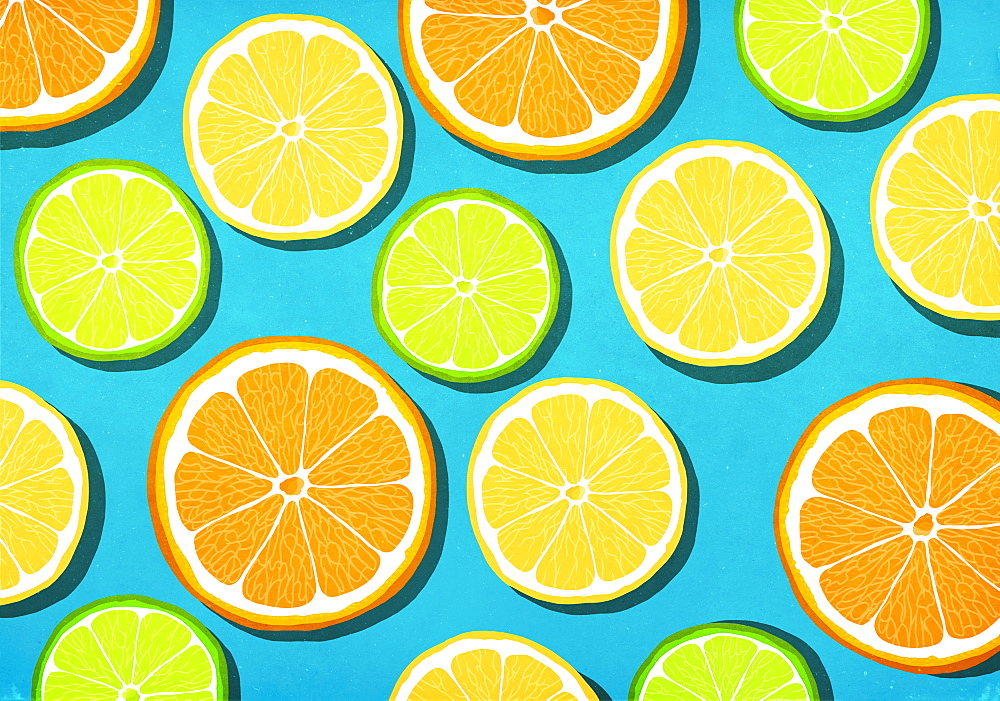 Vibrant citrus slices