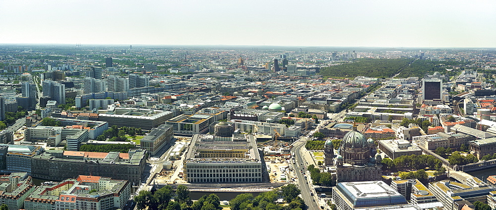 Scenic, sunny cityscape, Berlin West, Germany