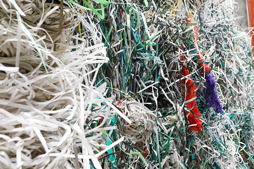 Shredded recycled paper