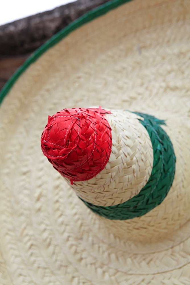 Detail of traditional straw hat