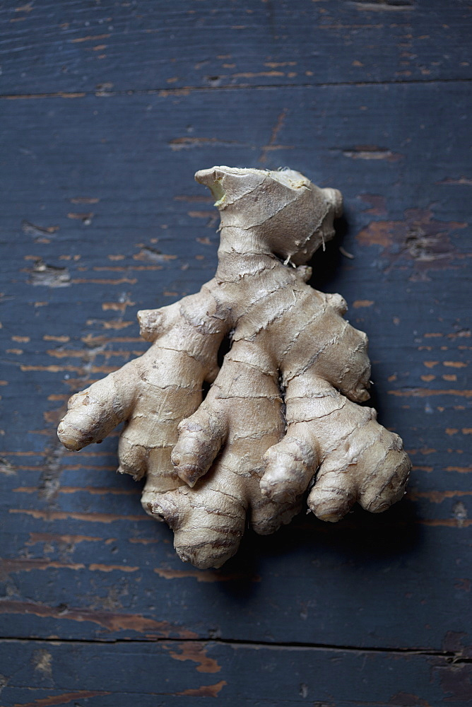 Close-up of ginger on table