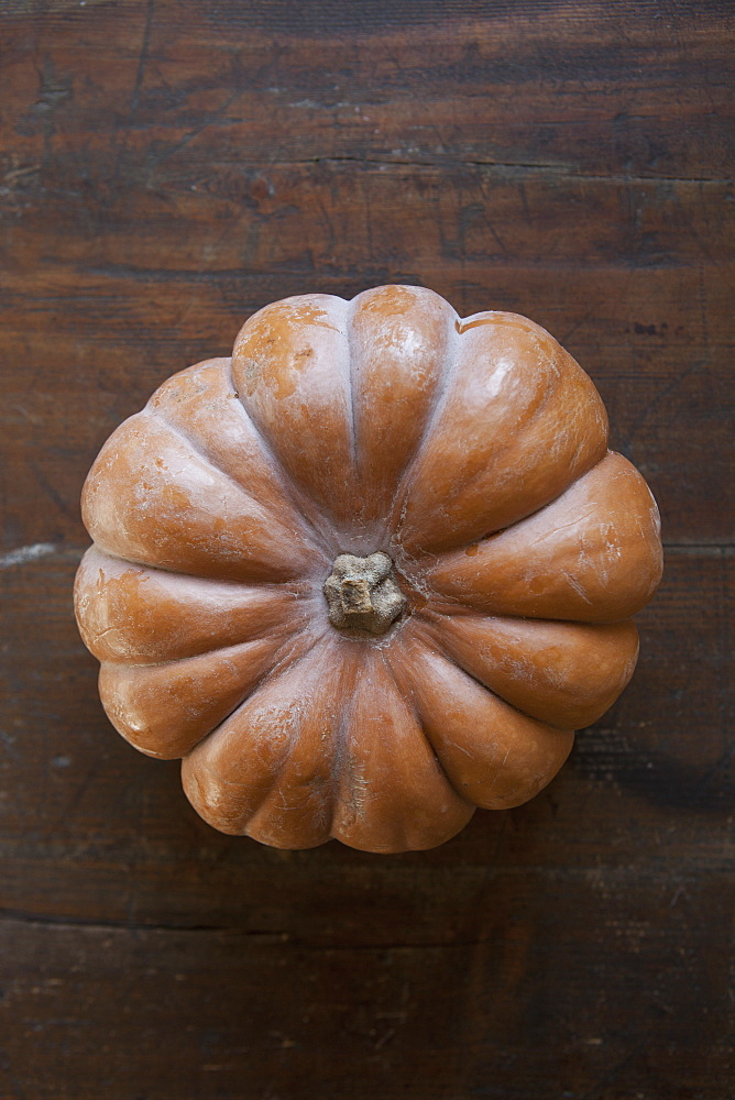 Directly above shot of pumpkin on table