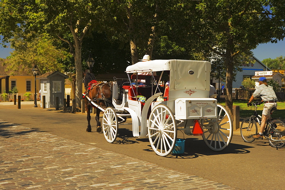 Carriage parked on the street