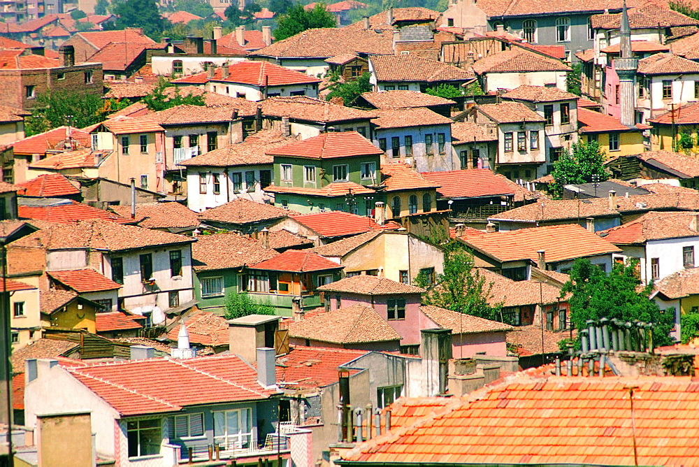 High angle view of buildings in a city, Ankara, Turkey