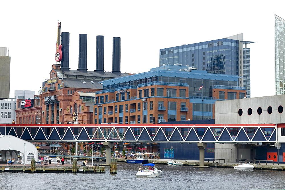 Buildings at the waterfront, Maritime Museum, National Aquarium, Inner Harbor, Baltimore, Maryland, USA