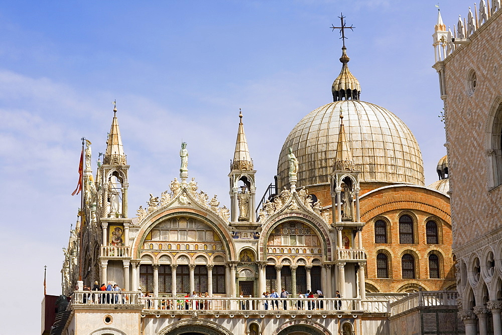 Low angle view of a cathedral, St. Mark's Cathedral, Venice, Italy