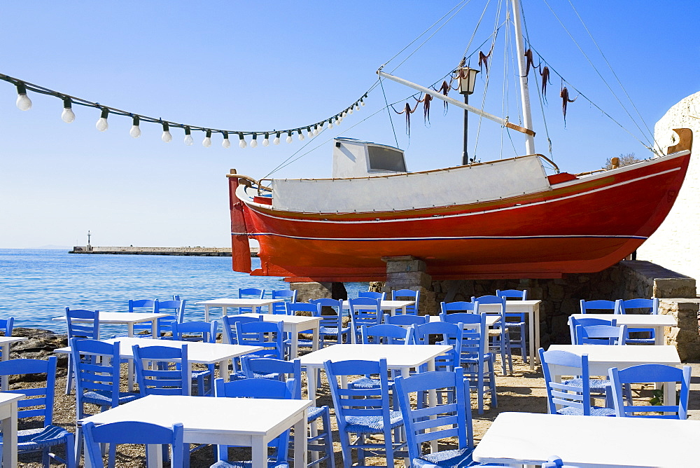 Restaurant at the seaside, Greece