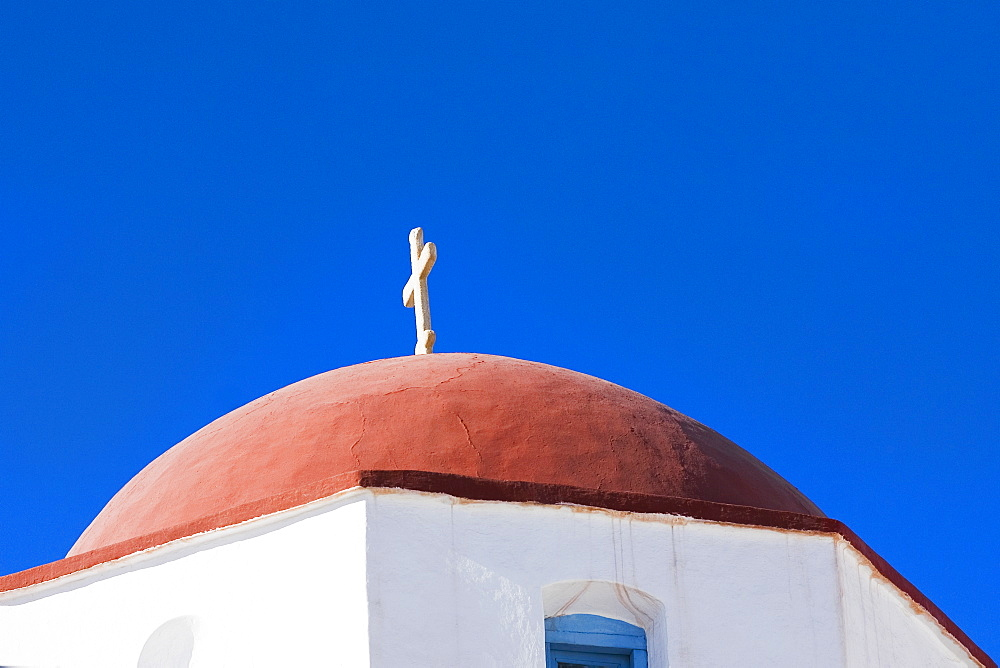High section view of a church, Mykonos, Cyclades Islands, Greece