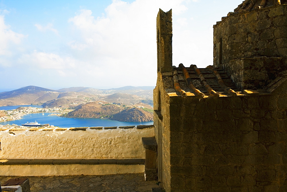 Old ruins of a church, Patmos, Dodecanese Islands, Greece