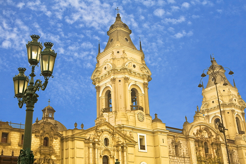 Low angle view of a cathedral, Cathedral de Lima, Lima, Peru - 788-14725