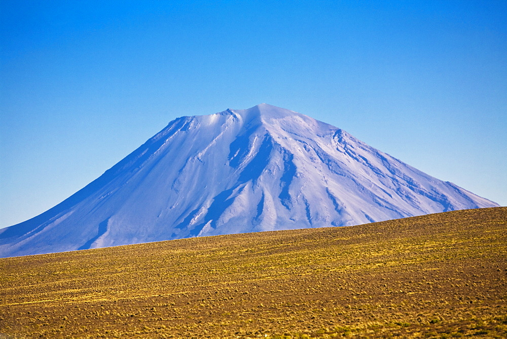 Panoramic view of a snowcapped mountain, Misti, Arequipa, Peru - 788-14789