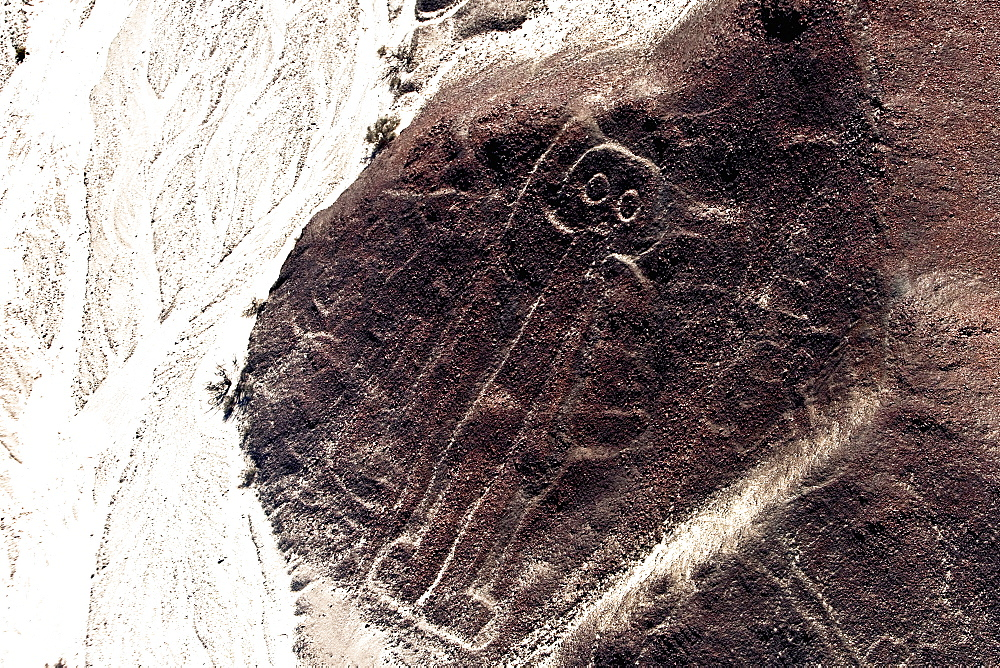 High angle view of Nazca lines, Nazca, Peru