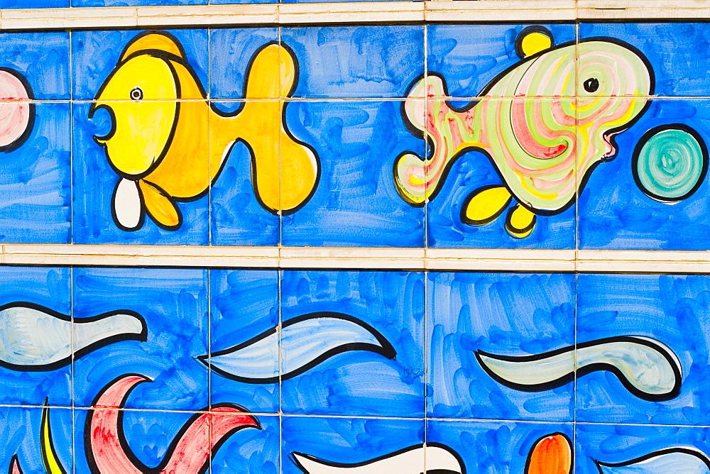 Close-up of paintings, Vietri sul Mare, Costiera Amalfitana, Salerno, Campania, Italy