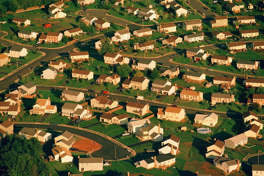 Suburban housing in Manassas, Virginia