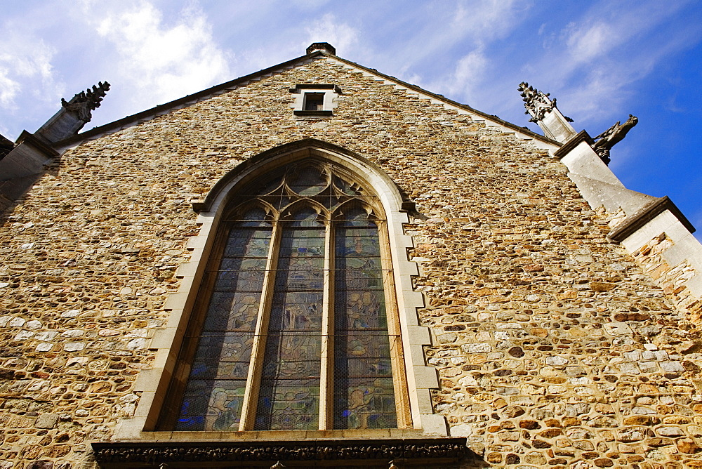Low angle view of a church, Eglise St-Benoit, Le Mans, Sarthe, France