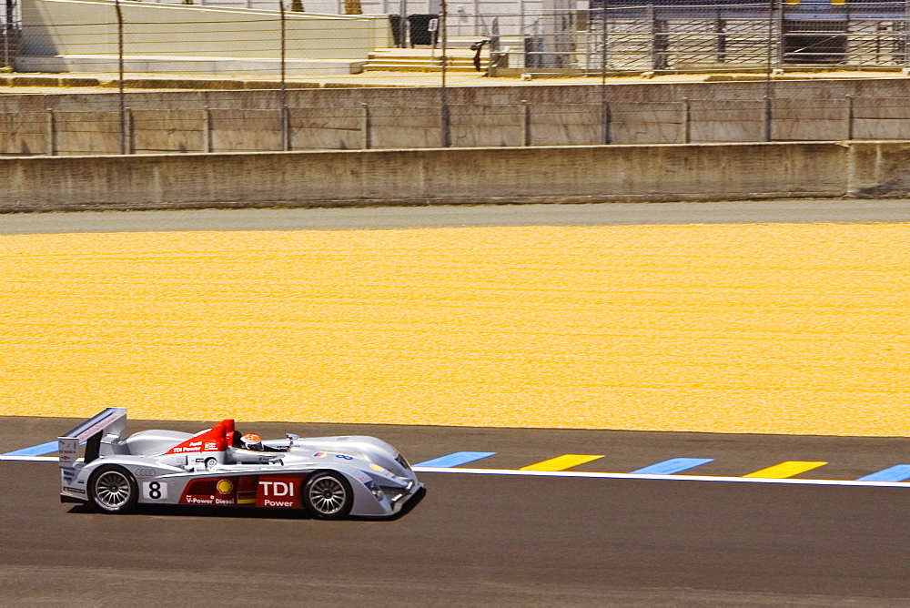 Stock car in a motor racing track, Le Mans, France