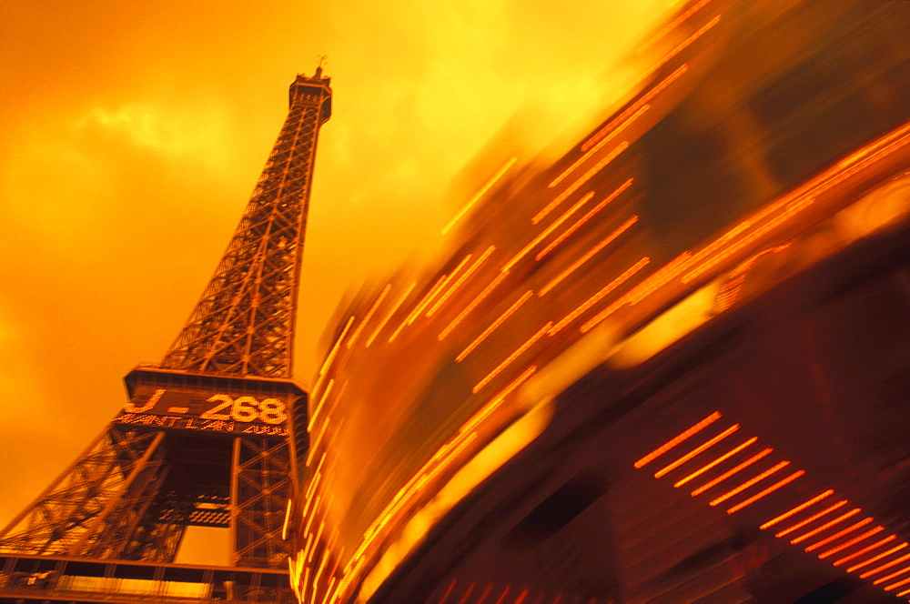 Low angle view of a tower, Eiffel Tower, Paris, France - 788-1837