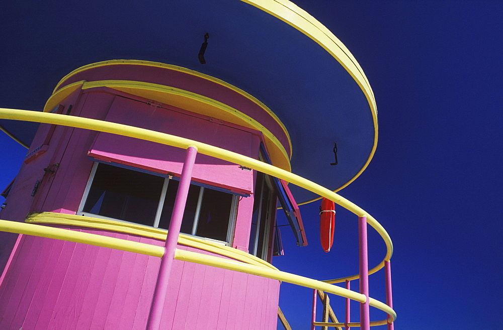 Low angle view of a lifeguard hut - 788-1853