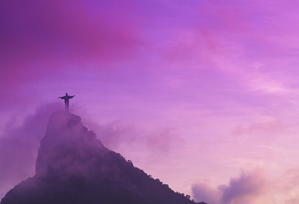 Low angle view of a statue of Jesus Christ, Christ the Redeemer Statue, Rio De Janeiro, Brazil - 788-1911