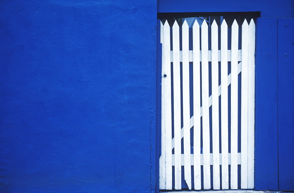 Close-up of a wooden gate of a house