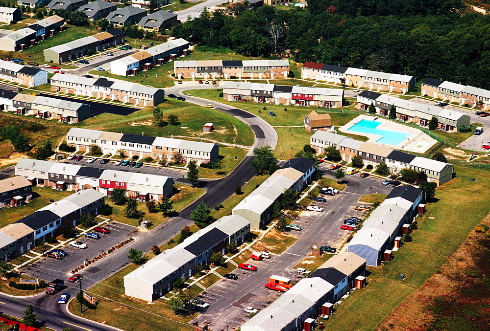 Aerial view of Courts of Hartford Square apartments in Edgewood, Maryland