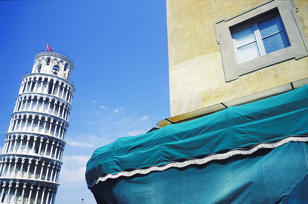 Building near a tower, Leaning Tower of Pisa, Pisa, Italy