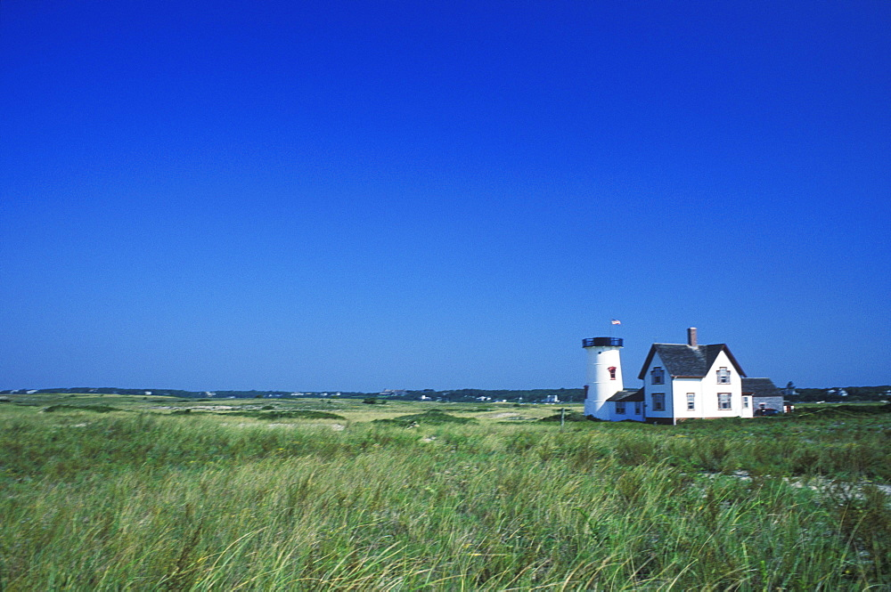 House in a field, Cape Cod, Massachusetts, USA