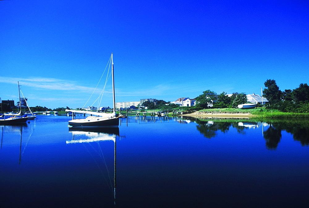 Boats in a river, Cape Cod, Massachusetts, USA
