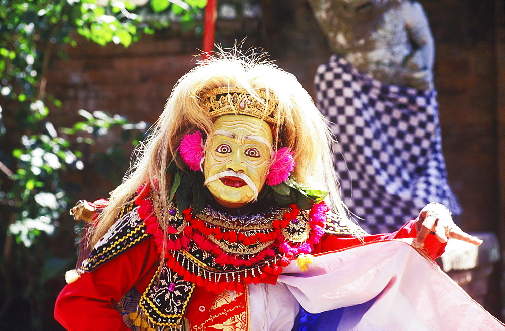Close-up of a stage performer dancing, Bali, Indonesia
