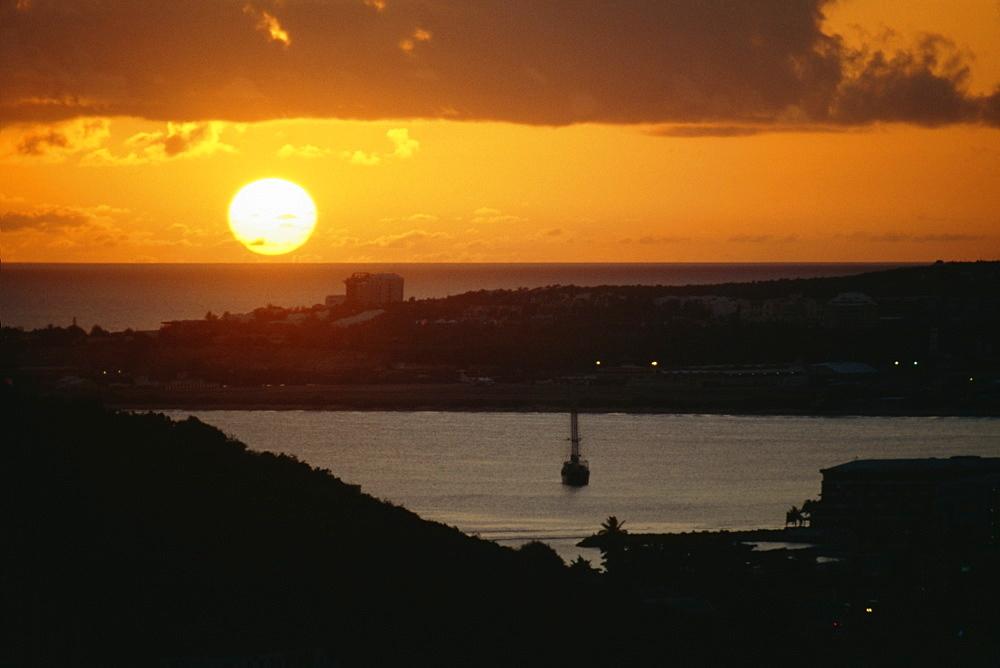 Seascape at sunset, Saba Caribbean , U.S. Virgin Islands