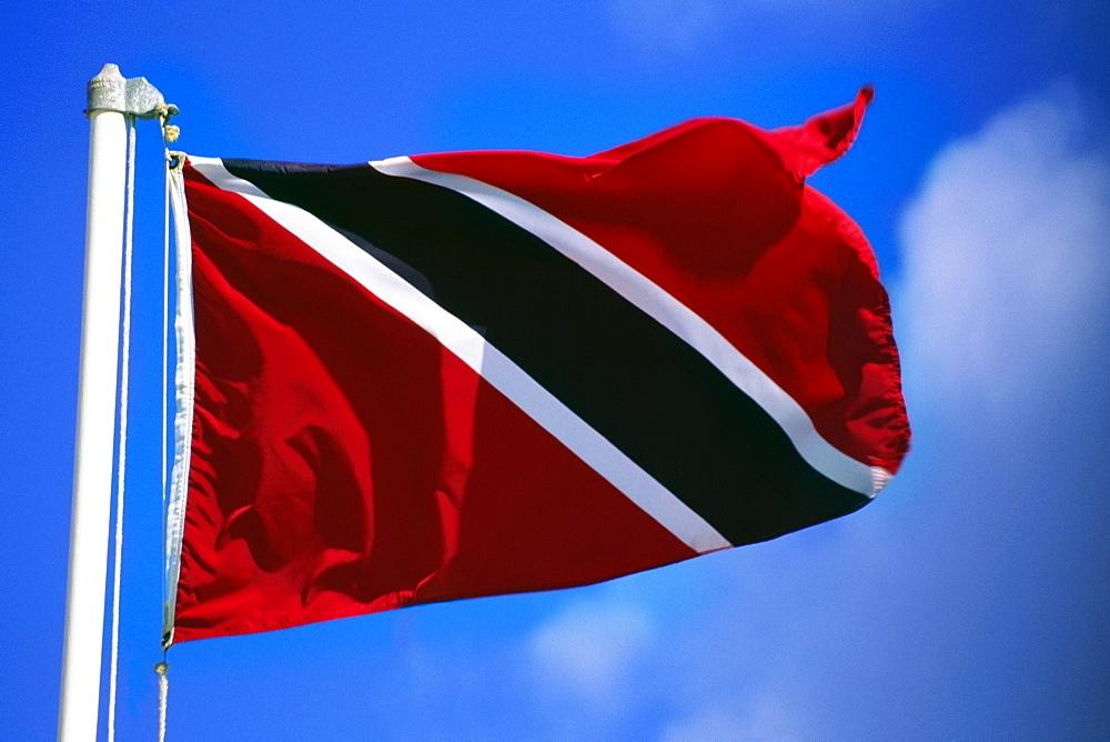 Close up of a fluttering flag