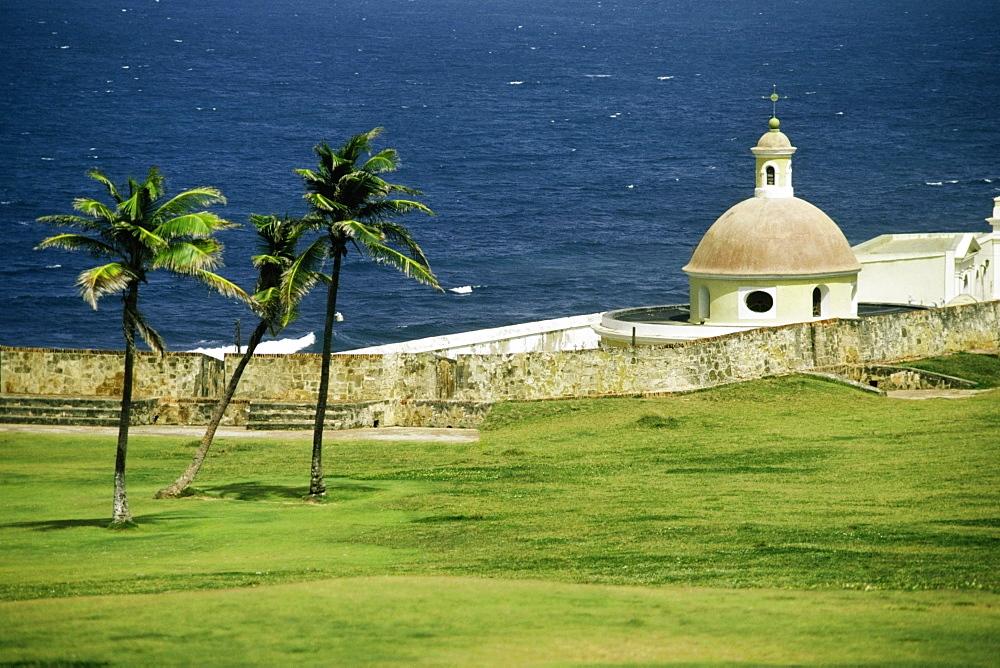 Side view of El Morro Fort, San Juan, Puerto Rico