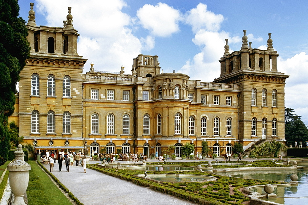 View to Blenheim Palace during the day