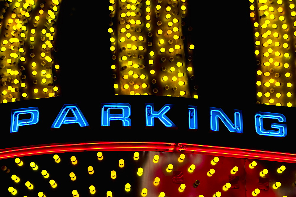 Close-up of a parking sign, Las Vegas, Nevada, USA