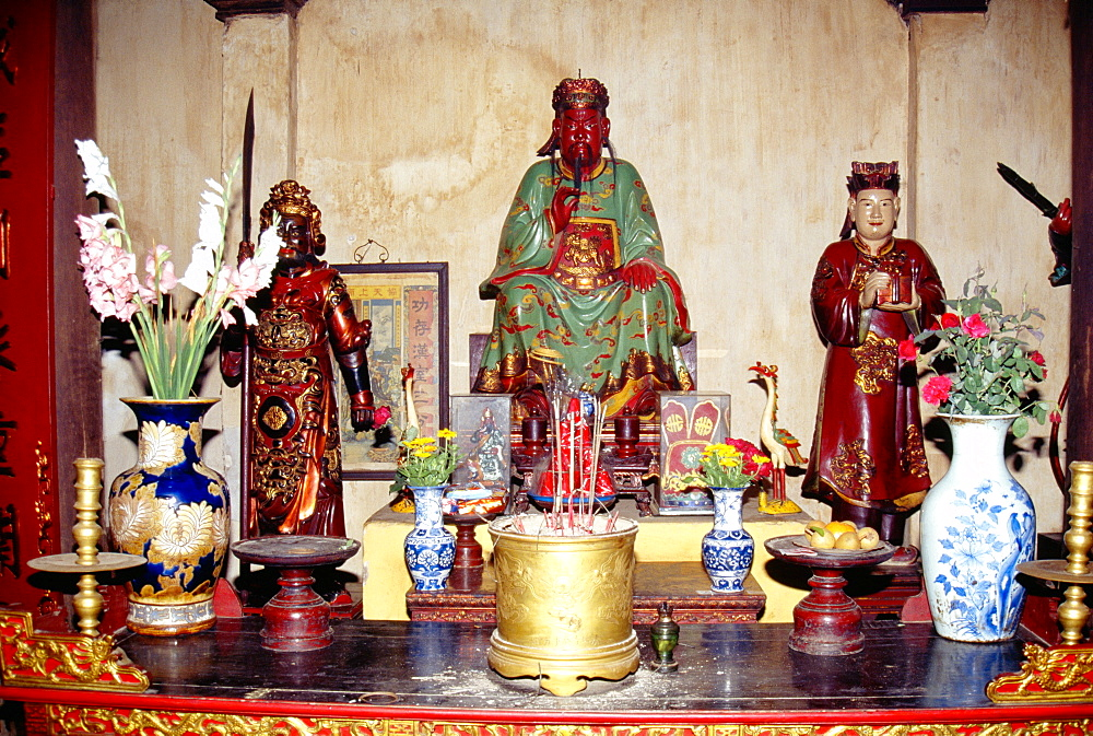 Deities at the Tran Quoc Pagoda, Hanoi, Vietnam