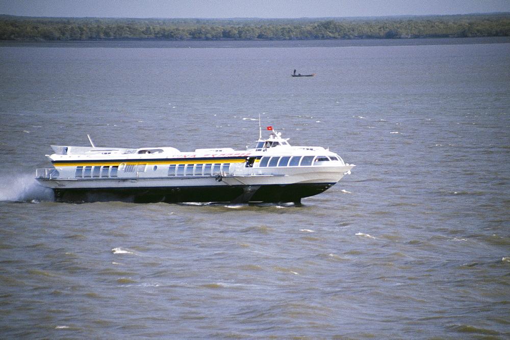 Hydrofoil in the Saigon River Delta, Vietnam