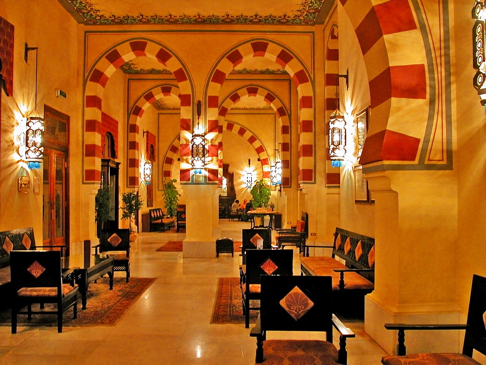 Interiors of a hotel