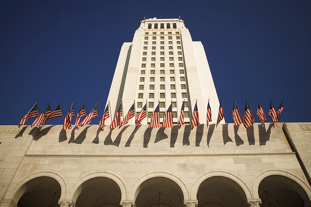 Low angle view of a building, City Hall, Los Angeles, California, USA - 788-9612